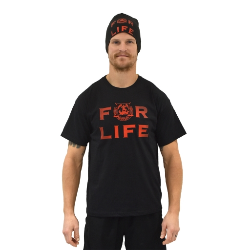 FOR LIFE T-Shirt Svart