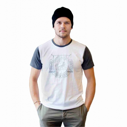 T-Shirt Kort Ärm Vit/Grå