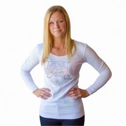 T-Shirt Långärm Dam Vit