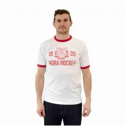 T-Shirt Vit/Röd